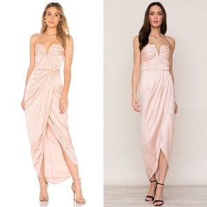 Yumi Kim Bombshell Dress Cameo Pink Gown Strapless